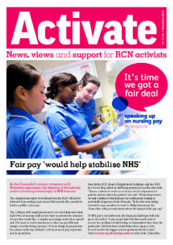 Front cover of November 2016 Activate