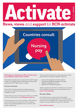 Front cover of the July issue of Activate