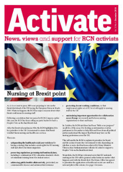 Front cover of the December 2018 issue of Activate