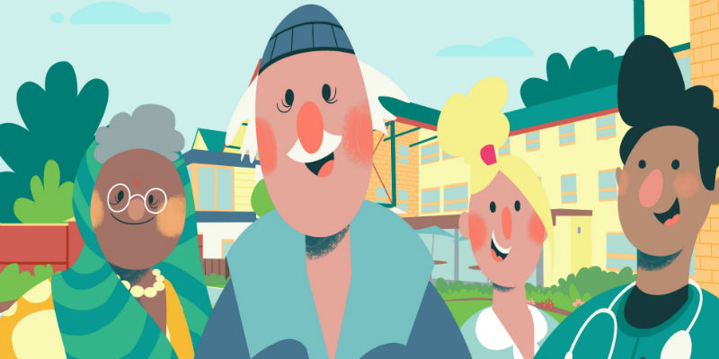 Care home journey characters