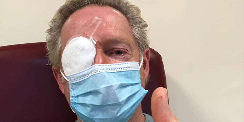 Geoffrey Walker post-eye surgery