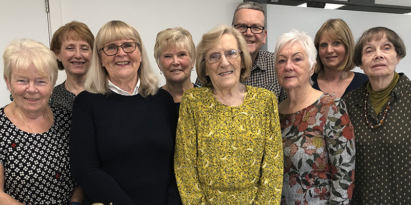 Retired nurses' group on their tenth anniversary 2019