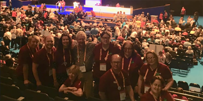 South West members at Congress in the auditorium