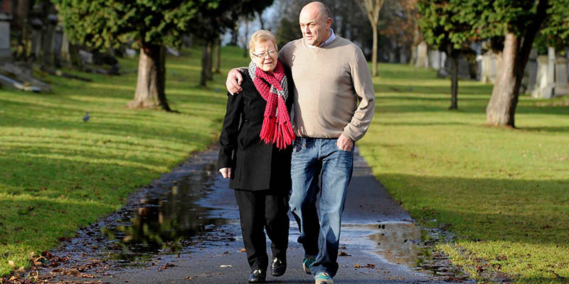 Tommy Whitelaw from Dementia Carer Voices and his mother, who he cared for