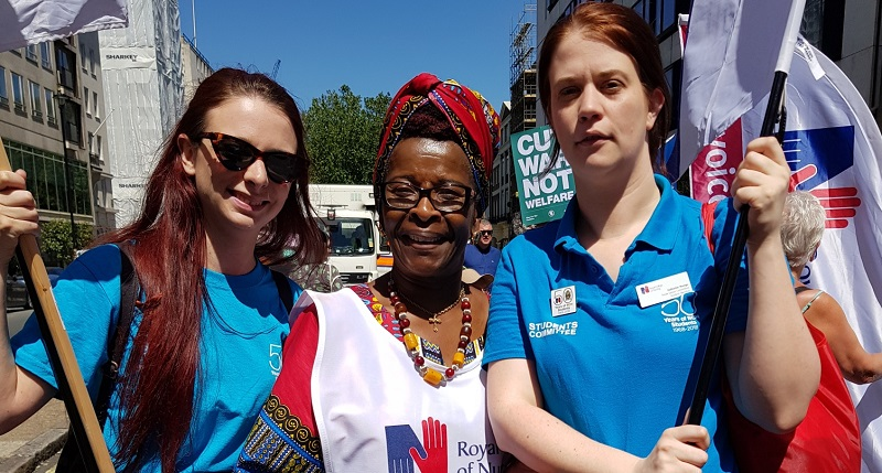Cecilia Anim at NHS70 demonstration