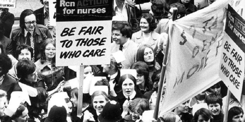 RCN pay campaign 1974