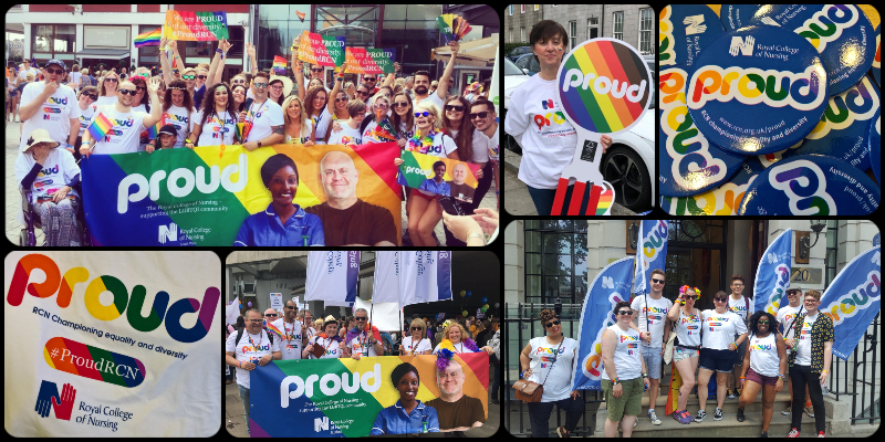 Royal College of Nursing supporting Pride events across the country