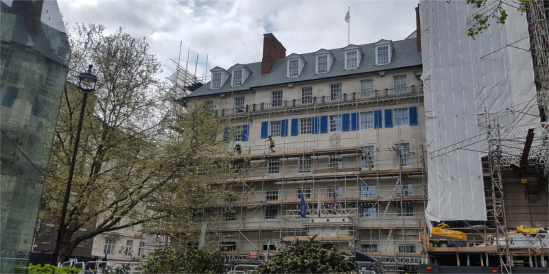 20 Cavendish Square undergoing restoration works in 2018