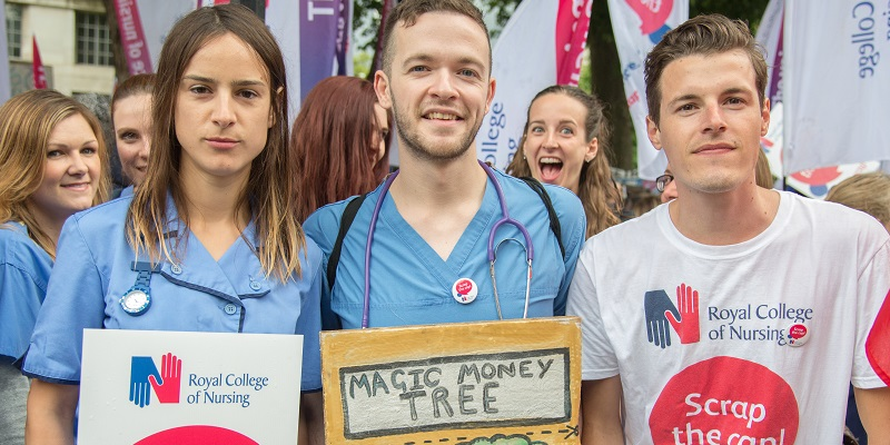 RCN pay protest