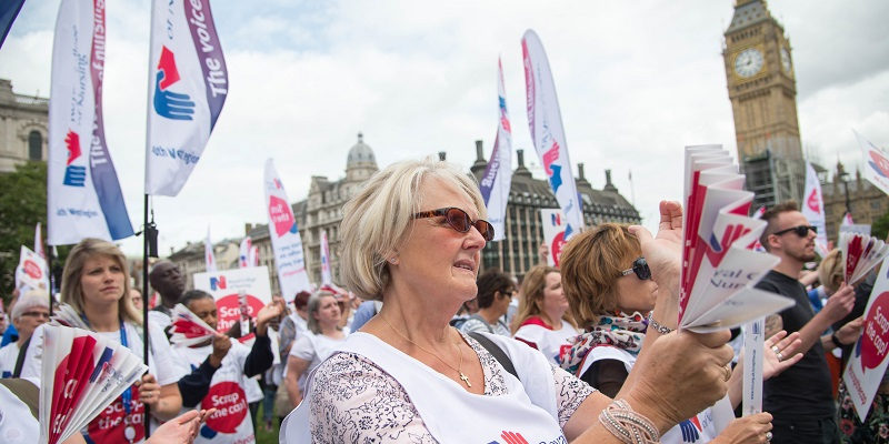 RCN pay rally