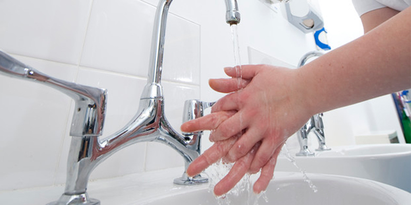 Washing hands for World Hand Hygiene Day