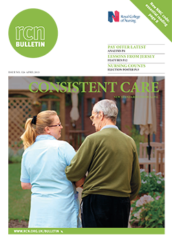 Front cover of April 2015 bulletin
