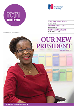 Front cover of January 2015 bulletin