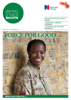 Front cover of November 2015 bulletin