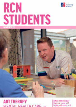 RCN Students magazine cover winter 2015