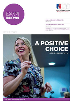 RCN Bulletin April 2016 front cover