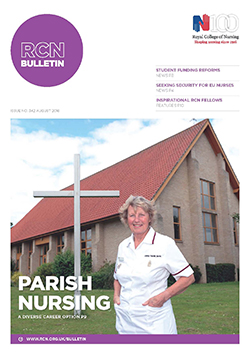 RCN Bulletin August 2016 front cover