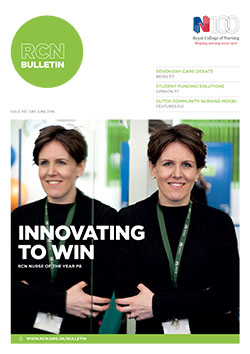 RCN Bulletin June 2016 cover