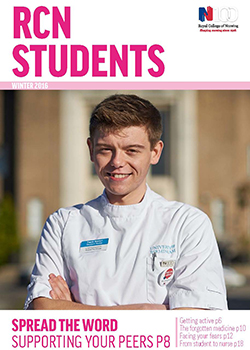 Front cover of winter 2016 issue of RCN Students