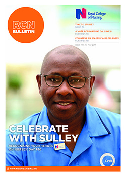 RCN Bulletin May 2017 front cover