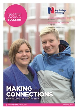 Front cover of February issue of RCN Bulletin