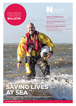 Cover of August issue of RCN Bulletin