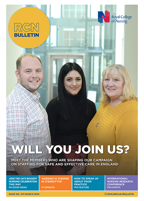 Cover of RCN Bulletin March 2019