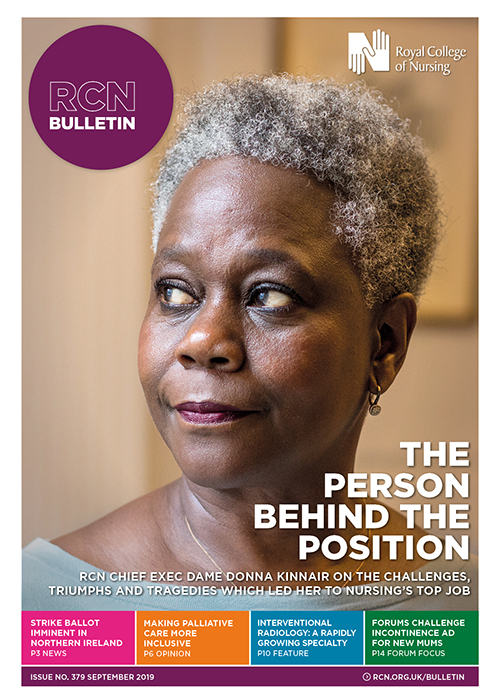 RCN Bulletin cover: September 2019