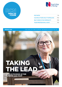 front cover of Health + Care spring 2018