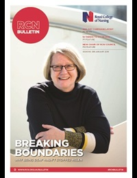 Front cover of January 2018 issue of RCN Bulletin