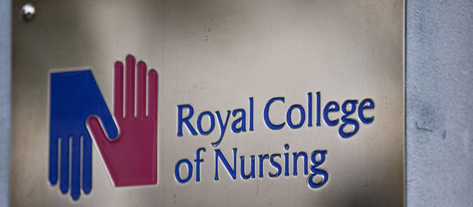 Royal College of Nursing building sign