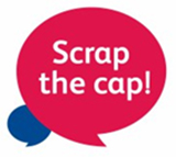 Scrap the cap campaign logo