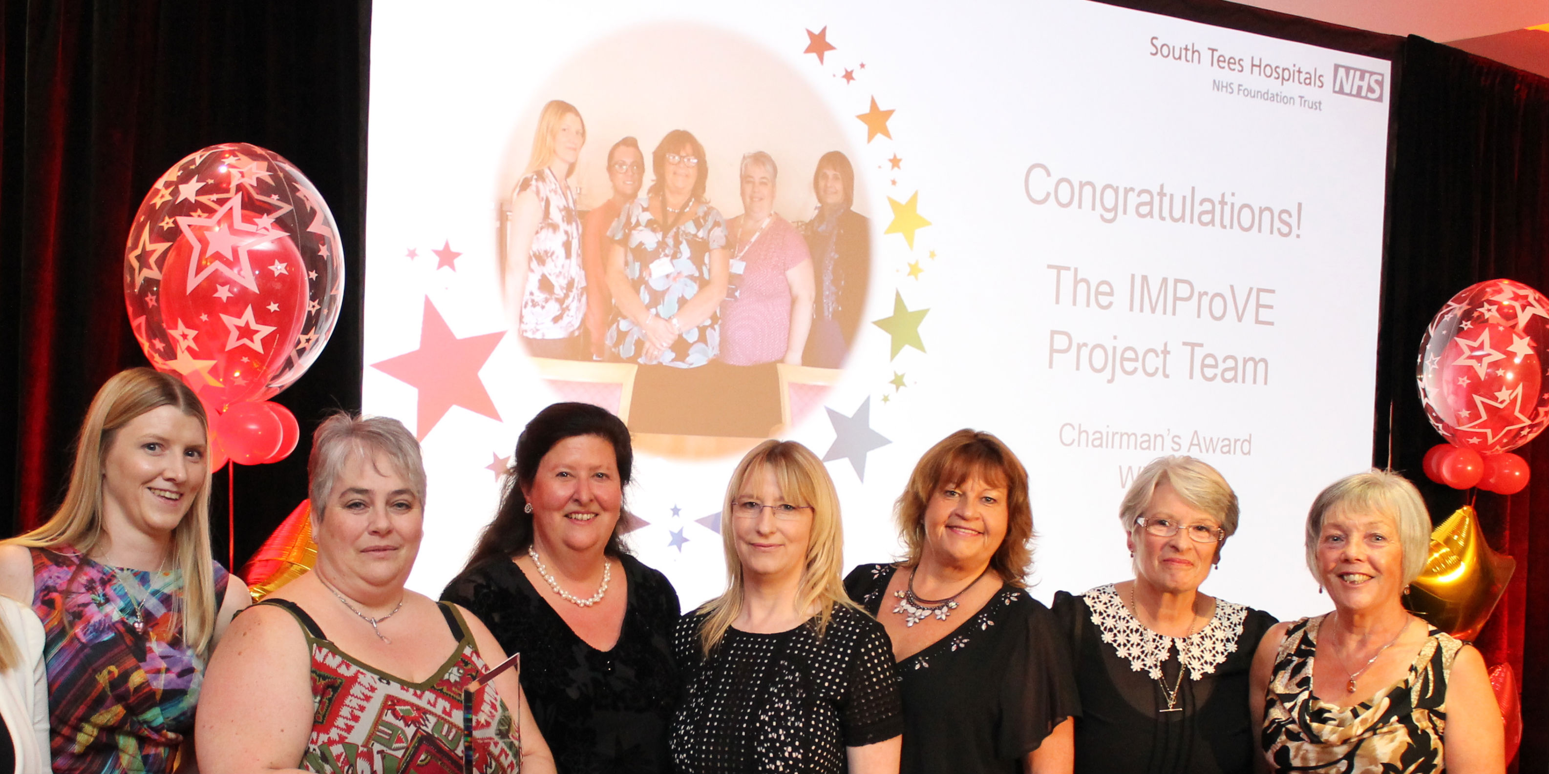 Senior RCN officer Sandra Bullock (far right) was part of the IMproVE team at South Tyneside which won an award for excellent partnership working