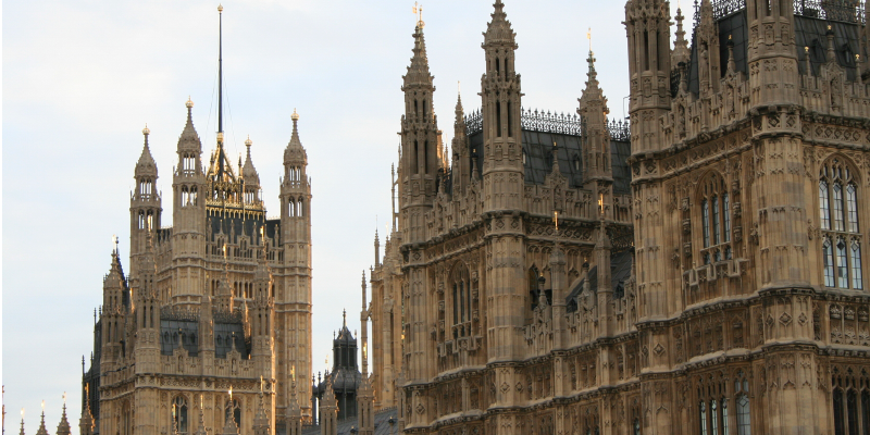 Close up of the Houses of Parliament