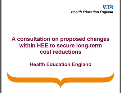 HEE consultation front cover