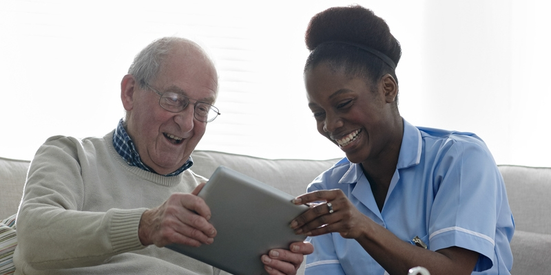 BME nurse with older man