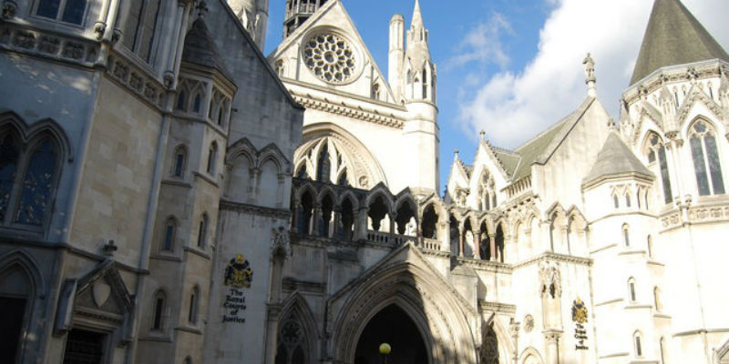 Royal Courts of Justice, where the Court of Appeal is housed