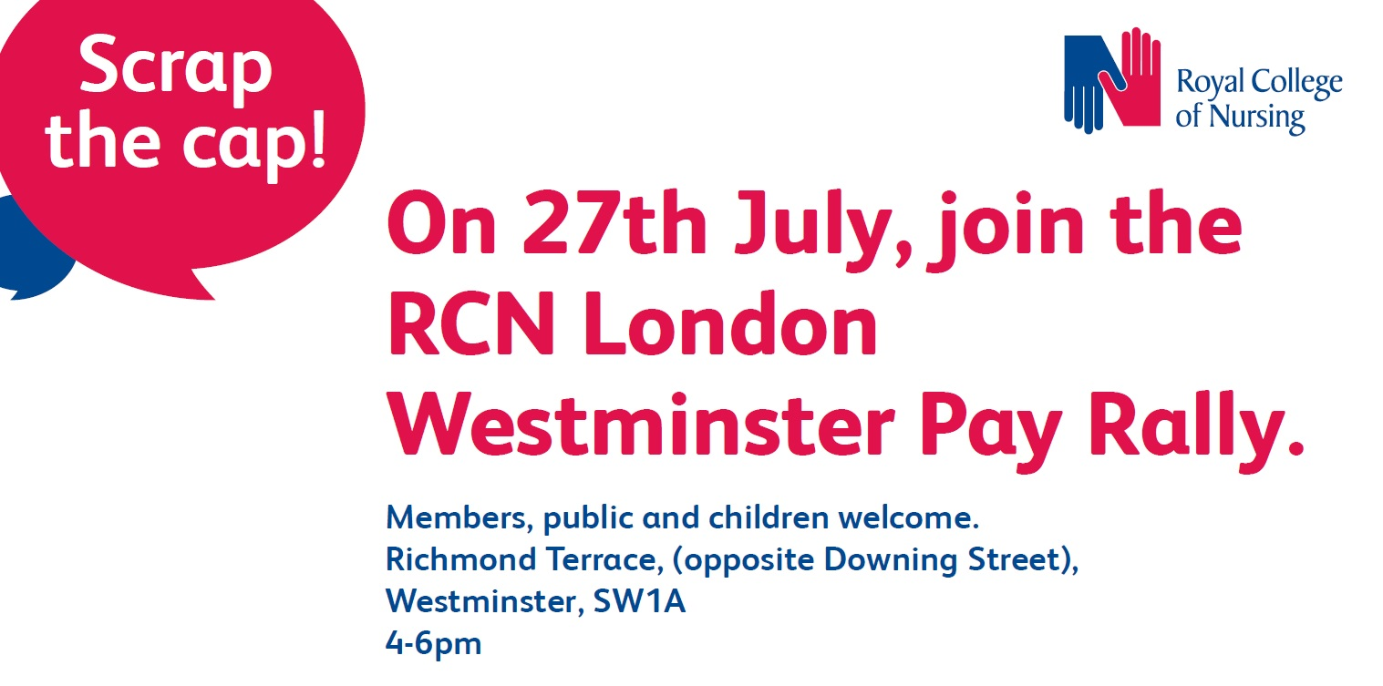 westminster pay rally poster