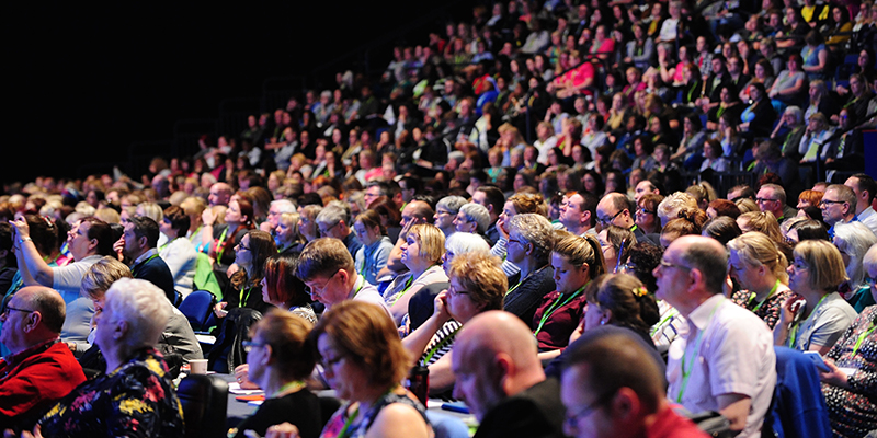 Delegates at RCN Congress in Liverpool