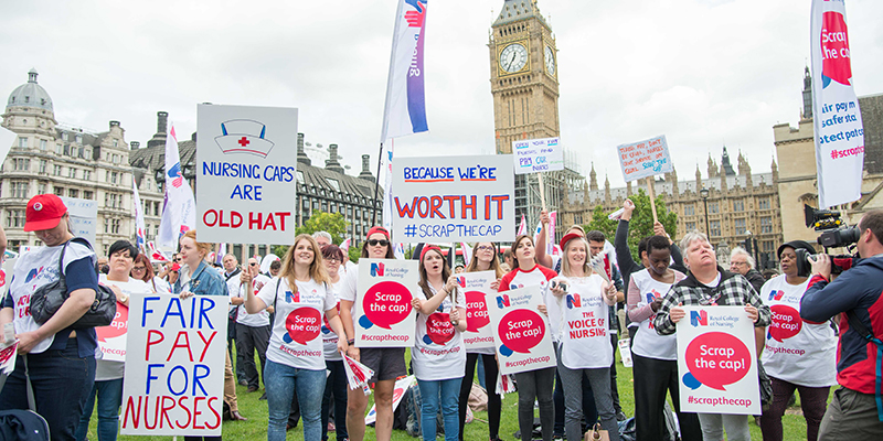 RCN members at Scrap the cap rally