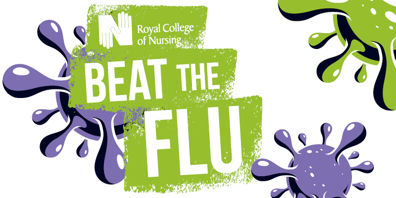 Beat the flu logo