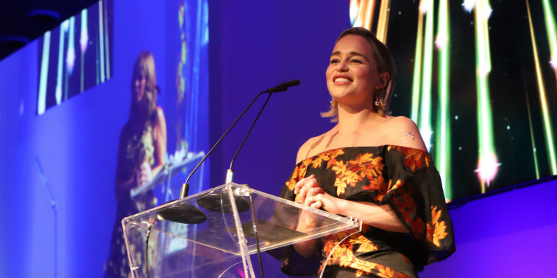 Actress Emilia Clarke as RCN ambassador