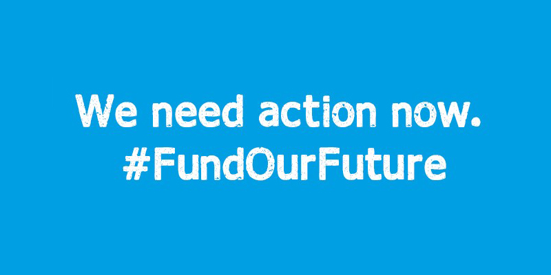 Fund our future campaign logo