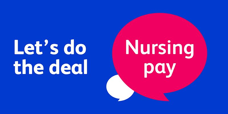 Nursing pay deal logo