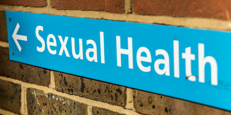 NHS sexual health sign