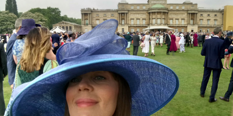 Northumbria Healthcare learning representative Sheryle Miller at Buckingham Palace Garden Party on 31 May 2018