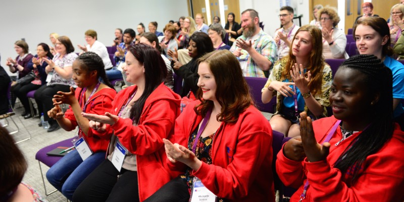 Members take part in a sign language fringe event at RCN Congress