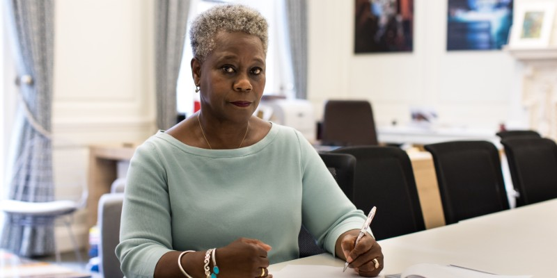 RCN Chief Executive Dame Donna Kinnair writing a letter