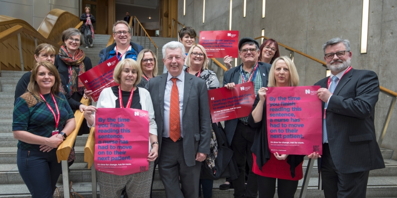 RCN members outside the Scottish Parliament