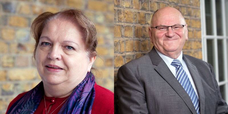 RCN Chair of Council Sue Warner and Vice Chair Richard Jones MBE